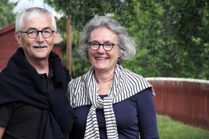 Lars-Olof och Kerstin Karner från Göteborg, och som har släkt i Dalarna, var på väg norrut när de bestämde sig för att besöka Jon-Lars i Långhed.