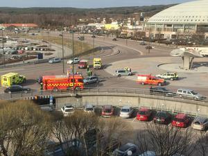 Olyckan inträffade strax innan klockan 10.00 på torsdagsförmiddagen.