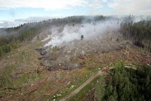 Den här markberedningen i Bonäset norr om Strömsund i augusti 2006 orsakade en skogsbrand. En markberedning på Norderön 2012 trasade sönder en värdefull fornlämning.