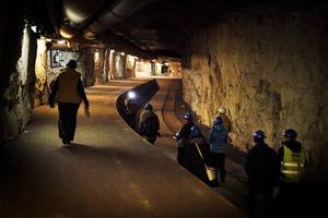En del av det gamla tunnelsystemet i Gällöberget som genom projektet Midsweden Skipark är tänkt att bli en 1,4 kilometer lång skidtunnel för åretruntträning.