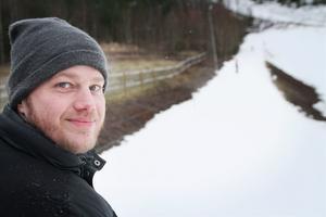 Mikael Jansson skötte liften under premiärdagen.