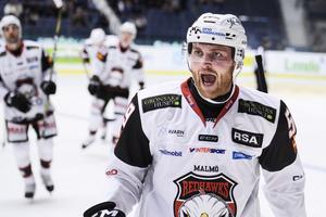 Västeråssonen Anton Mylläri fick göra sitt första SHL-mål i karriären mot Djurgården.