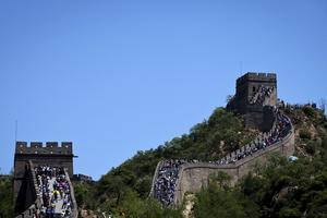 Kinesiska muren i Badaling, i norra Peking.