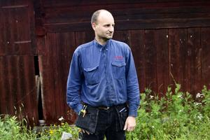 Potatisodlaren Lars-Åke Magnusson hoppas på torrare dagar.