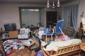 När Mikael Lindholm kom hem insåg han på en gång att det varit inbrott: Allt var i en enda oreda i huset. (Den här bilden är tagen vid ett annat inbrott)
