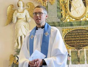 Kyrkoherde Kalle Bengtz ledde gudstjänsten.