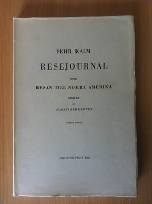 Linné skickade ut ett tjugotal unga män i världen för att kartlägga flora, fauna och folkliga seder. Knappt hälften kom hem med livet i behåll. En av dem var lärjungen Pehr Kalm som vann internationell berömmelse med den här boken som skildrade hans resa i Nordamerika.