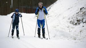 Ludvig och Lars-Åke Bylund testade spåren i Klackberg.