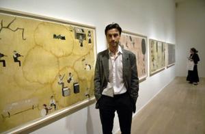 Jockum Nordström har under våren gjort fyra nya teckningar/collage speciellt för utställningen på Moderna Museet. Bland annnat titelverket