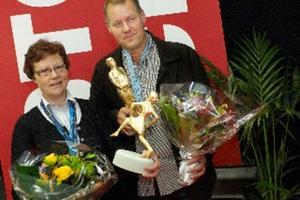 Faluläkarna Kristina Wallman och Roger Skogman prisades.