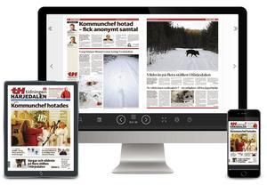 TH kan du läsa som e-tidning på dator, i surfplatta och mobil. Och på utgivningsdagen finns den tillgänglig redan strax efter kl 01 på natten.