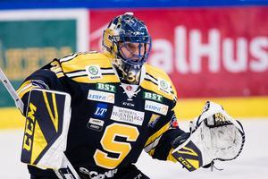 Fredrik Bergvik har 87,5 i räddningsprocent efter fyra matcher för SSK. Foto: Bildbyrån.
