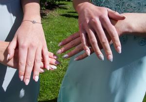 Ebba Stolpe och Hannah Hermanssons naglar. De var väldigt vackra och nästan som konstverk.