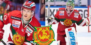 Emil Bejmo och Isak Wallin har kontrakt med Mora IK. Foto: Daniel Eriksson/Bildbyrån