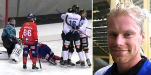 Kalle Mårtensson gjorde både 3–2 och 4–2 i Sirius seger över Edsbyn. Foto: Bandyplay / Christoffer Million
