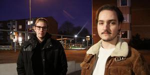 Samuel Berg och Pontus Wetterhall söker bostad i Västerås.