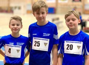 Axel Svedberg, Theodor Fredriksson och Noel Vestman knep alla medaljer under Hälsingspelen förra helgen.