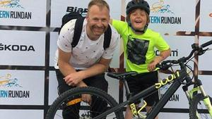 Joakim och Fredrik Fredin har varit flitiga under cykelveckan.