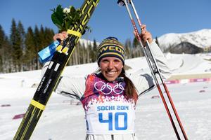OS-silver 10 kilometer klassiskt 2014. Bild: Carl Sandin/Bildbyrån.