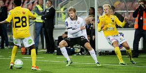 Christoffer Wiktorsson i 1–1 matchen mot Falkenberg augusti. Arkivbild: Aline Lessner