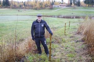 Greenkeepern Tobbe Pettersson har jobbat på Fallets golfbana sedan 1996 och i ledande ställning sedan 2004.