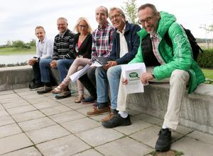 Sex centerpartister som hoppas på mer inflytande efter valet: Magnus Claesson, Frank Tholfsson, Maria Lannhard, Cristoffer Stockman, Jan Engman och Jonas Andersson Wellermo.
