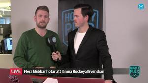 Andreas Hanson och Jacob Sjölin i Hockeypuls livesändning.