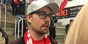 Robin Berglund, ordförande i Timrå IK:s supporterklubb.