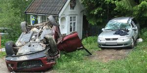 Makarna Backlin upptäckte bilen med föraren i på uppfarten tidigt på lördagsmorgonen.