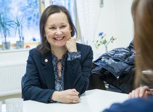 Marjo Myllykoski (M), ordförande i kultur- och samhällsservicenämnden.