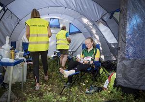 Moa Kjellbergs orientering slutade i ett sjukvårdstält ute i skogen.