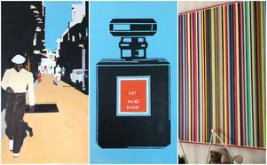 Tre olika målningar av Fredrik doc Casserstedt.