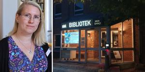 Bibliotekarien Jenny Brenander menar att intresset för Meröppet varit stort under den första veckan.