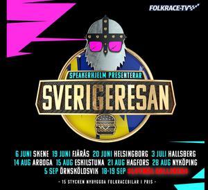 Du följer Sverigeresans slutmål i Hallsberg, 18-19 september live här på vår sajt.
