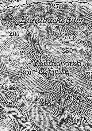 Utsnitt ur Generalstabens karta från 1915