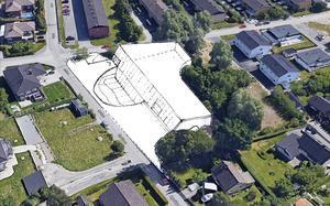 På den tomt där Urbergets förskola ligger idag, planeras en ny förskola med eget tillagningskök och plats för minst 90 barn.  Illustration: Norconsult