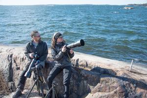 Håkan Sundström och Lill-Marie Öhgren Sundström fotograferar för det mesta tillsammans.