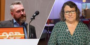 Centerpolitikerna Eva Hellstrand och Tom Silverklo menar båda att beslutet att dra ned på personal nödvändigt. Foto: Petter Hansson Frank/Malin Moberg