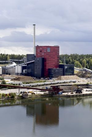Igelstaverket. Söderenergis anläggning i Södertälje.