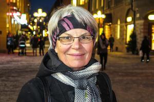 Marianne Olsson, 65 år, Brunflo: – Nej. Lucior ska vara unga, ha långt hår och inte grått. I skolan var jag med i luciatåg, som tärna.