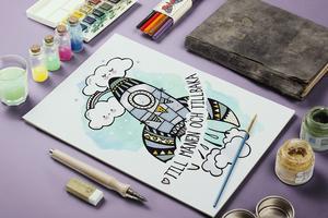 Ett exempel på en av Johanna Ehnbergs barnillustrationer.