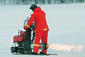 De överträffade sig själva, gänget från Mo, när de fick den turbojetdrivna Orsa sparken att glida fram på isen.