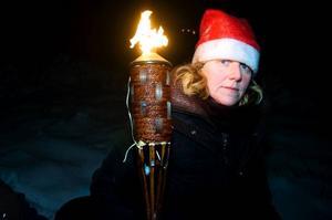 Under de senaste 15 åren har Ann Eriksson ordnat tomtespaning för traktens barn.