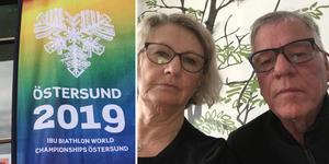 Margareta och Roger Jönsson är rädd att de nu kommer att få åka 30 mil från Lycksele till Östersund utan att ens få se tävlingarna. Fotomontage: Anna-Stina Ericson/Privat