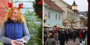 Diana Munch var en av många försäljare på årets första julmarknad i Wadköping. Det blir även marknader den 1 december, 8 december och 15 december