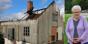 Birgitta Olssons pappa byggde bryggeribyggnaden 1931 och började sedan brygga egen svagdricka för försäljning.  För Birgitta kom det som en chock att byggnaden förstörts av en våldsam brand.