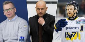 Johan Davidsson och David Petrasek kom inte överens med Andreas Johansson. Foto: Bildbyrån.