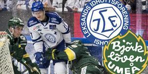 Mikko Pukka, här i duell med Anton Karlsson, missar kvällens match. Foto: Bildbyrån.