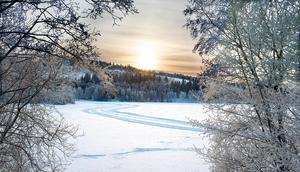 Sidsjön i vinterskrud.