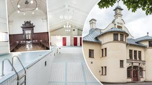 De mest utstickande objekten på veckans Klicktoppen är ett gammalt tingshus i Krylbo och ett poolhus i Söderbärke. Foto: Svensk Fstighetsförmedling Ludvika/BLOKK Fastighetspartner